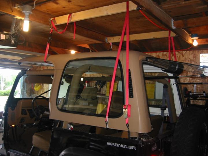 ... Top Hanging Above Jeep, Rear ...