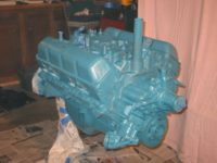 Engine painted