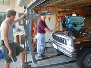 Installing the 401 in the Wagoneer