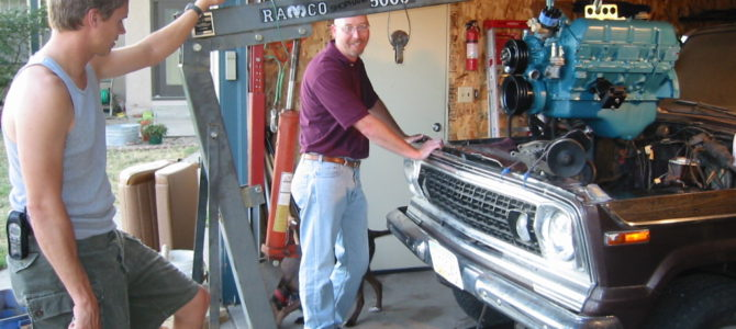 Installing an AMC V8 into a '77 Jeep Wagoneer